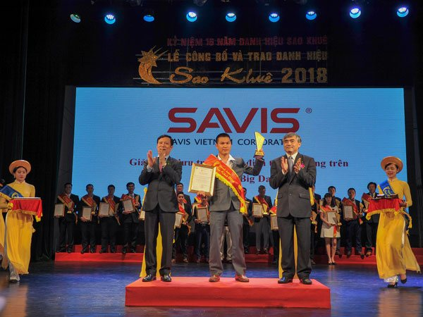 SAVIS vinh dự nhận danh hiệu Sao Khuê 2018