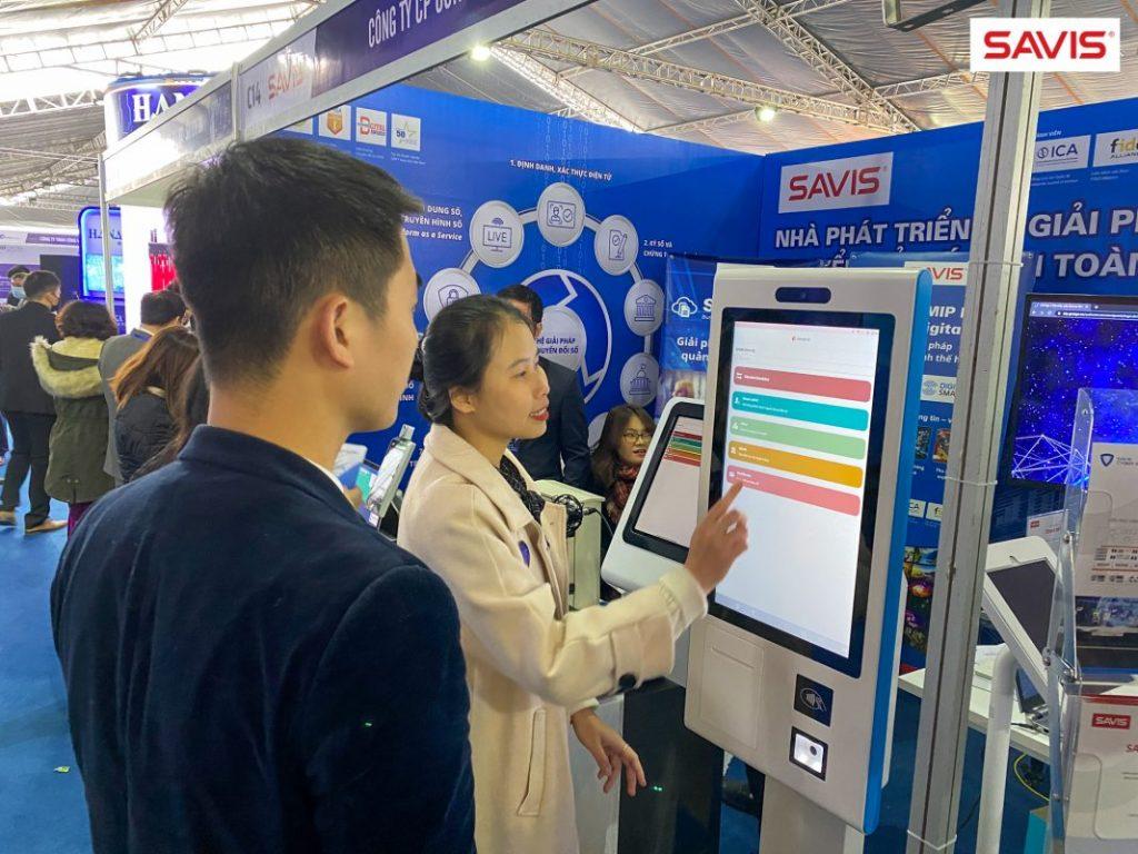 SAVIS - Hệ giải pháp Chuyển đổi số  - Triển lãm Đổi mới sáng tạo smart kiosk