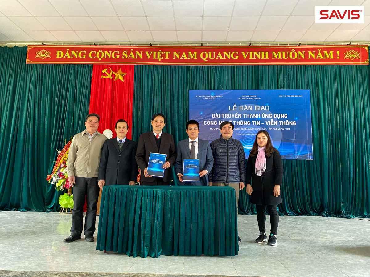 Công ty SAVIS phát triển, lắp đặt và tài trợ cho huyện Thường Xuân, tỉnh Thanh Hóa Đài truyền thanh ứng dụng - Viễn thông